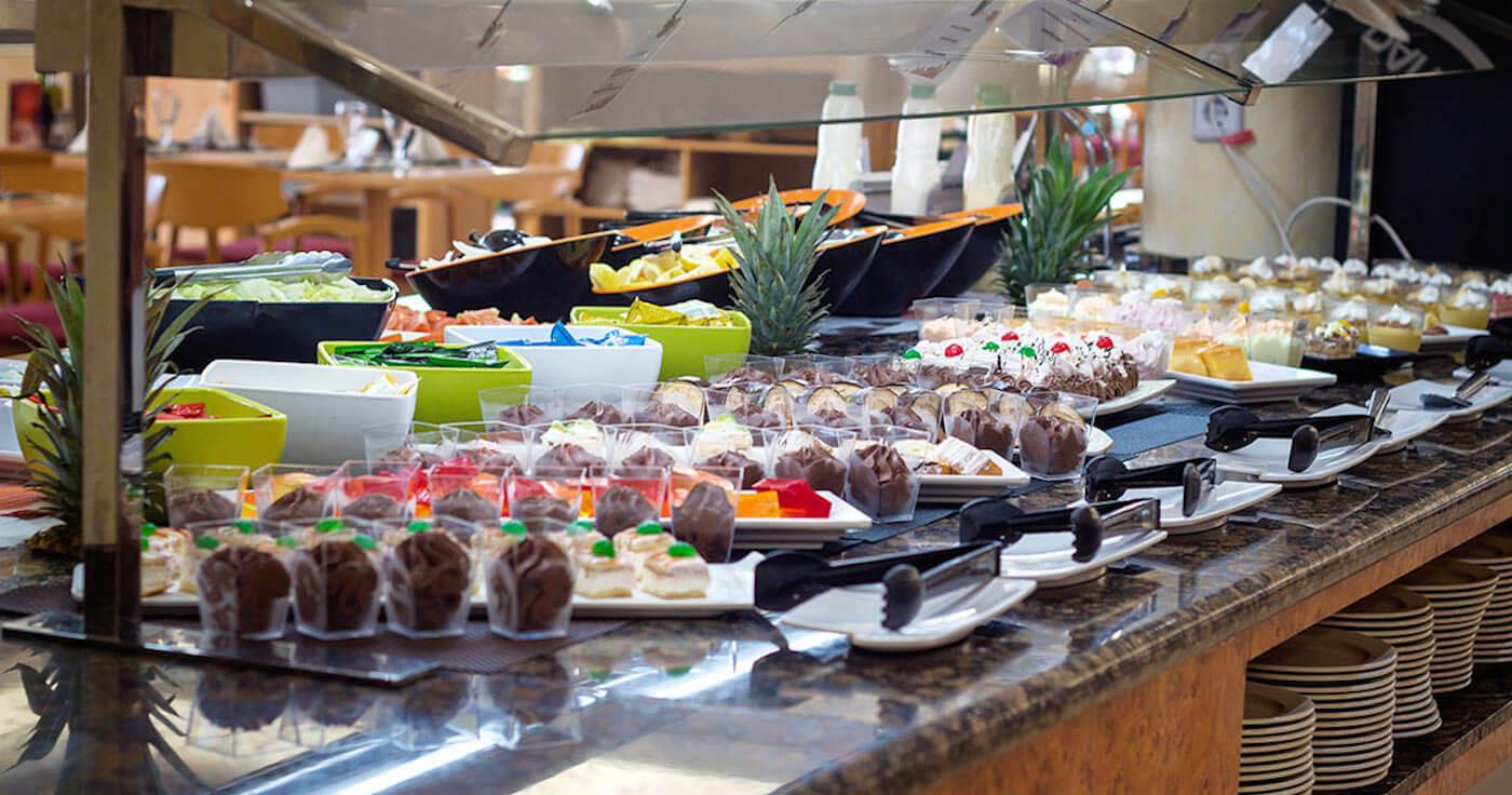 Buffet libre en hotel galua la manga